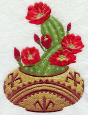 SOUTHWEST CACTUS FLOWER SET OF 2 HAND TOWEL EMBROIDERED by laura