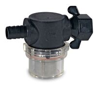 """Shurflo Strainer In-line Water Filter 1/2"""" Barb Outlet / Wing Nut Fastening"""