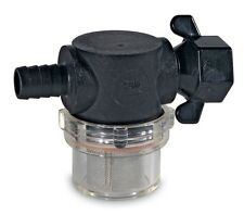 "Shurflo Strainer In-line Water Filter 1/2"" Barb Outlet / Wing Nut Fastening"