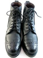 "Allen Edmonds ""Long Branch"" Men's Wingtip Casual Boots 10 D Black  (526)"