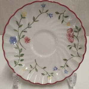 Johnson Bros Summer Chintz Scalloped Saucer c1988-2003 Made in England