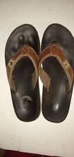 Margaritaville Tan Leather Strap Mens Sandals Size 10, Flip Flops