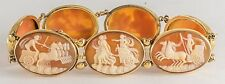 ANTIQUE SEVEN CAMEO BRACELET 14K  GOLD