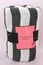 """NWT VICTORIA'S SECRET LARGE PINK STRIPED BEACH BLANKET THROW LIMITED 50"""" x 60"""""""
