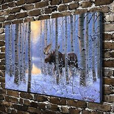 On the Move Deer Animal HD Canvas Print Paintings Home Decor Wall Art Pictures