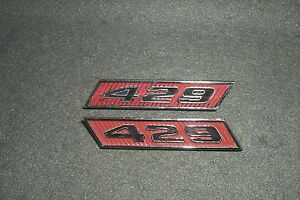 429 Engine Badges 70 Mercury Cyclone Spoiler-Montego Emblems 1970 Cobra Jet Ford