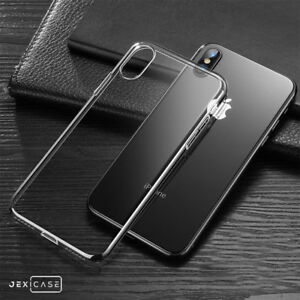 Shockproof TPU Clear Skin Phone Case Soft Bumper Cover For iPhone Samsung Galaxy
