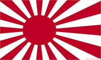 JAPAN SUN RISING FLAG 3X2 feet 90cm x 60cm FLAGS IMPERIAL JAPANESE NAVY