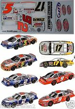 NASCAR DECAL 2003 #2 #5 #9 & #17 VICTORY LAP PAST CHAMPIONS SUPPLEMENT JWTBM