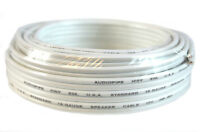 16 Gauge 25 Feet White Speaker Wire Zip Cable Copper Clad Car Audio Stereo