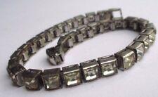 bracelet bijou vintage couleur argent déco pierre couleur diamant  2257