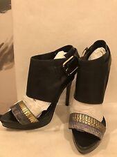 Report Signature Women Black LeatherHigh Heel Pumps Sandal Party Shoes