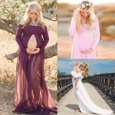 Chiffon , Pregnant Women Dress Maternity Gown Photography Props Photo Shoot