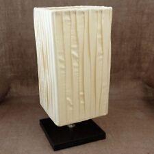 Lampe base carrée - tissu drapé 30 cm Crème