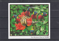 VANUATU RAINBOW LORIKEET BIRDS LIMITED EDITION MINIATURE SHEET 1999 MNH