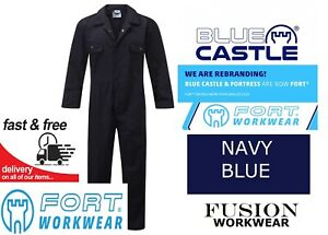 COVERALL NAVY, HIGH QUALITY,FORT 318 BLUE CASTLE,OVERALL,BOILER SUIT,WORK,S-XXL
