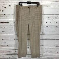 Talbots Petite women's dress pants Beige/Brown plaid career Size 12P EUC