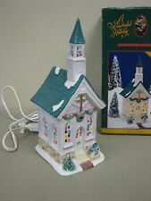 It's A Wonderful Life Christmas Village Bedford Falls CHAPEL church lighted