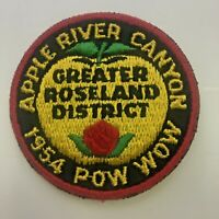 BSA Cub Scout Boy Scouts Patch 1954 Pow Wow Apple River Canyon Greater Roseland