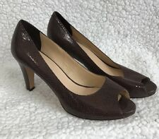 COLE HAAN Womens Heels  Sz 6 B Snake Print Leather Pumps Shoes
