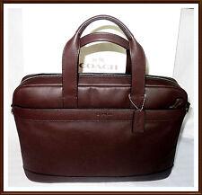 NWT NEW Coach Men's Leather Hamilton Briefcase Laptop Commuter Bag BROWN RECEIPT