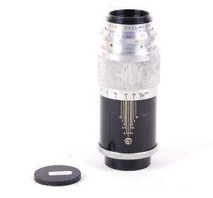 Ex+ Dallmeyer Dalrac 135mm f/4.5 (L) Original Leica L39 Screw Mount Silver Lens