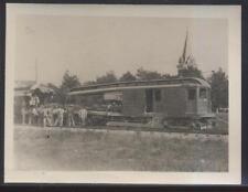 REAL PHOTO SNAPSHOT CINCINNATI & COLUMBUS RAILWAY CAR WRECK 1940'S