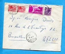 1956 EXP.DEM.£.50 + SIRAC.£.25 + £.35 COPPIA  ann. PADOVA per il BELGIO (222388)