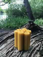 100% ORGANIC HANDMADE BEESWAX CANDLES * SET OF 7 CANDLES *