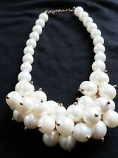 "Chunky ARTIFICIAL PEARL Statement Necklace, 46 cm / 18"" long New"