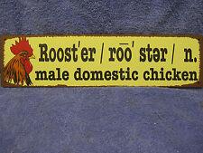 Rooster Farm Barn Tin Metal Sign Decor