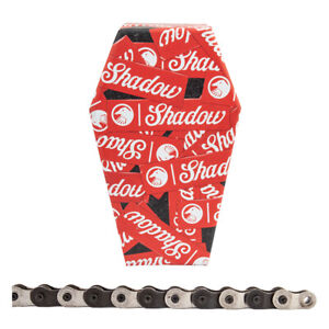 "SHADOW CONSPIRACY INTERLOCK V2--1/2"" x 1/8"" BLACK/SILVER BMX HALF LINK CHAIN"
