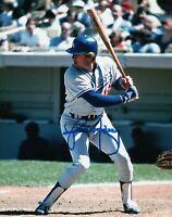 Rick Monday Signed Autographed 8X10 Photo LA Dodgers Road Day At Bat w/ JSA