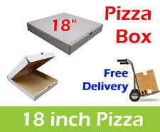 "50 x 18"" Inch Pizza Boxes, Plain White Takeaway Boxes Packaging Boxes, Pizza Box"