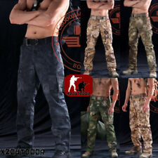 Mens Outdoor Military Tactical Combat Pants Ripstop Cargo Urban Hunting Trousers