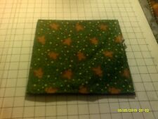 40x22 Toddler daycare cot sheet 1 green gingerbread man print