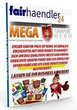 MEGA KILLER GRAPHIC PAKET - HERO Vol. 1 + 2  GRAFIK PACKAGE MARKETING PLR-LIZENZ