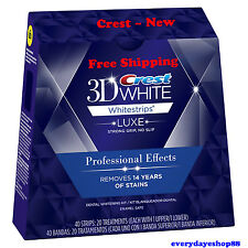 CREST 3D WHITESTRIPS LUXE PROFESSIONAL EFFECTS  WHITENING 40 Strips, 20 Pouches
