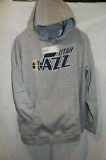 NWT Men's Utah Jazz Gray Hooded Pullover Sweatshirt 2XL by Fanatics Branded