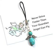 Handmade TURQUOISE  'Guardian Angel'  CAR CHARM + Gift Card
