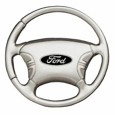 Ford Key Ring Chrome Steering Wheel Keychain