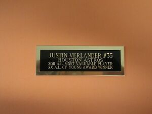 """Justin Verlander Nameplate For A Baseball Ball Card Plaque Or Photo 1"""" X 3"""""""