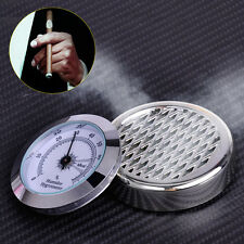 Plastic Round Silver Smoking Tobacco Hygrometer Humidifier fit for Cigar Humidor