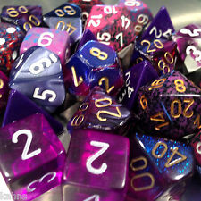 Chessex BY COLOR - 3 ounces assorted PURPLE dice from Pound-O-Dice - Pound Dice