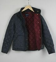 GANT Women's SMALL Quilted Filled Dark Blue City Jacket 21188_JS