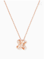 NWT KATE SPADE ITS A TIE BOW MINI PENDANT NECKLACE ROSE GOLD W DUST BAG