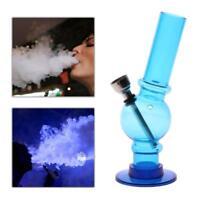 Portable Hookah Water Bong Herb Acrylic Smoking Pipe Kits Shisha Tobacco BLUE