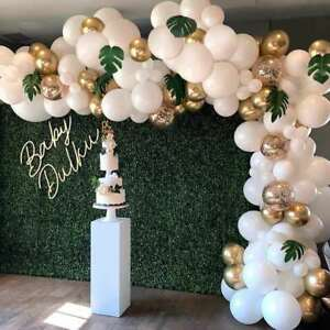 Garland Arch Balloons Set White Gold Birthday Wedding Party Decoration