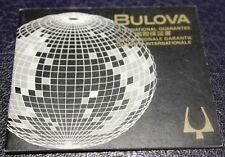 "Bulova vintage warranty accutron papers booklet ""world"" rare newoldstock blank"