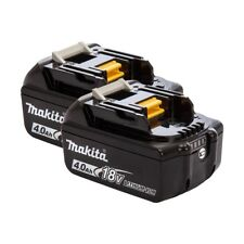 MAKITA BL1840B GENUINE 18V 4.0AH BATTERY WITH LED BATTERY INDICATOR PACK OF 2